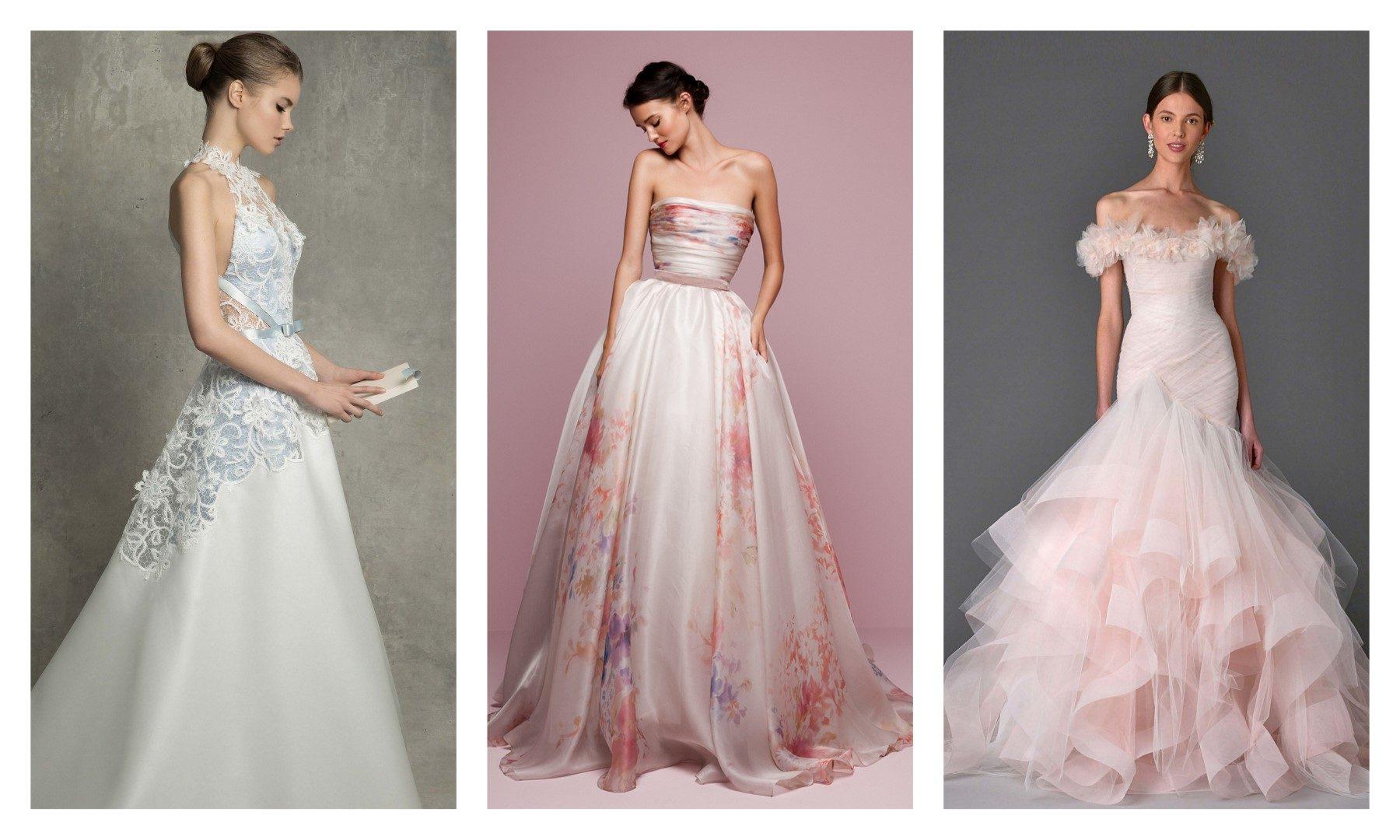 Ilyen lesz az esküvői ruha 2017-ben – A képeken látható esküvői ruhamárkák  listája balról jobbra haladva  Monique Lhuillier d3a9c54247