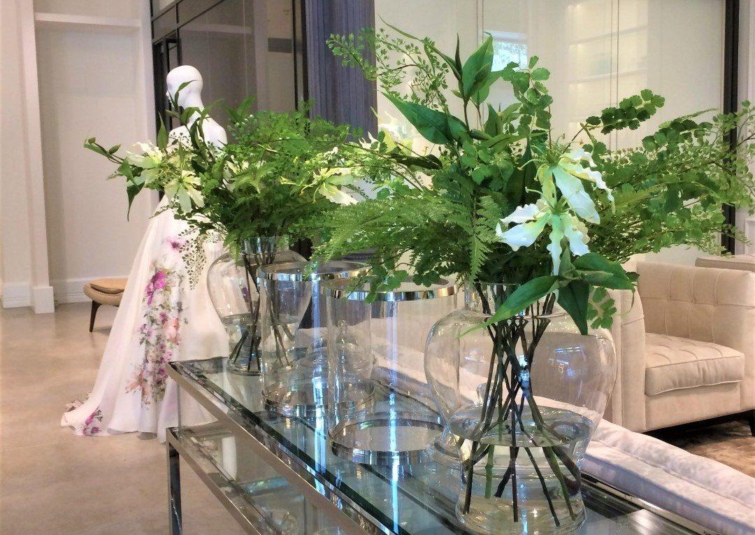 Gyönyörű selyemvirág dekoráció az esküvődre