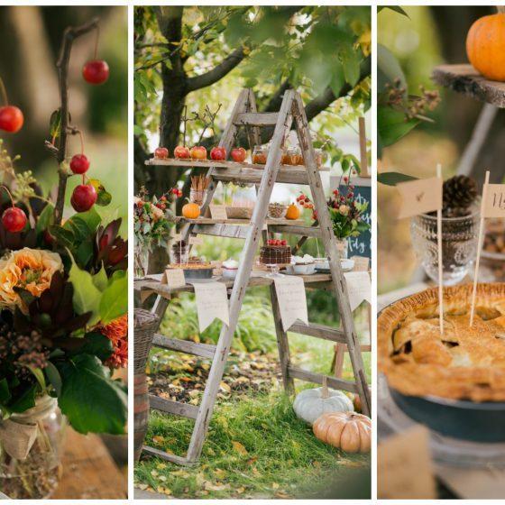 őszi desszertasztal