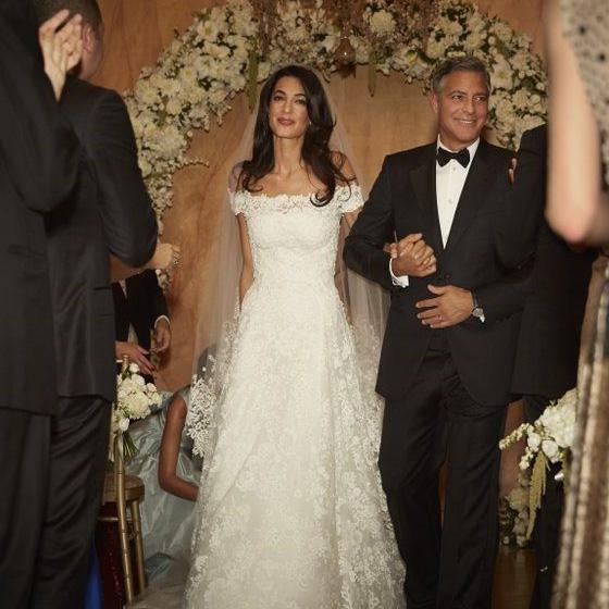 Amal Clooney esküvői ruhája