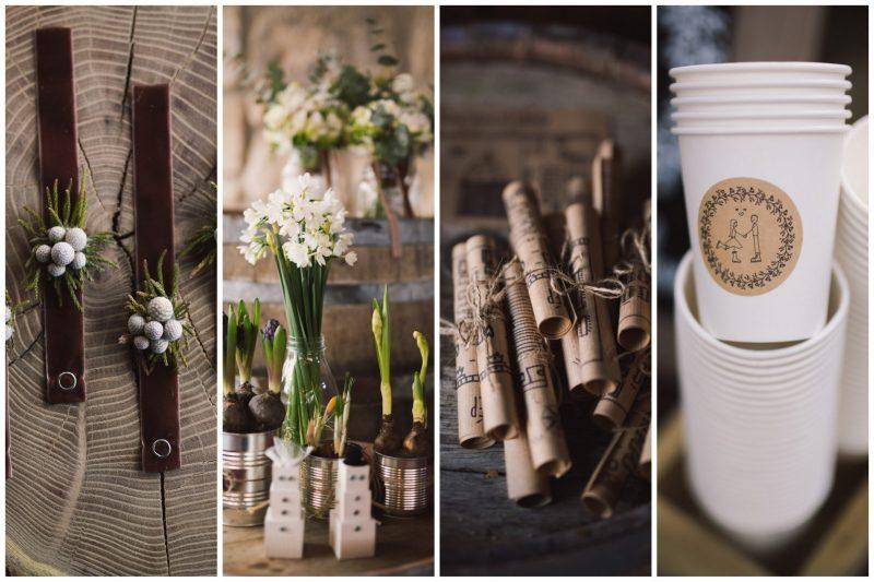 téli esküvői dekor