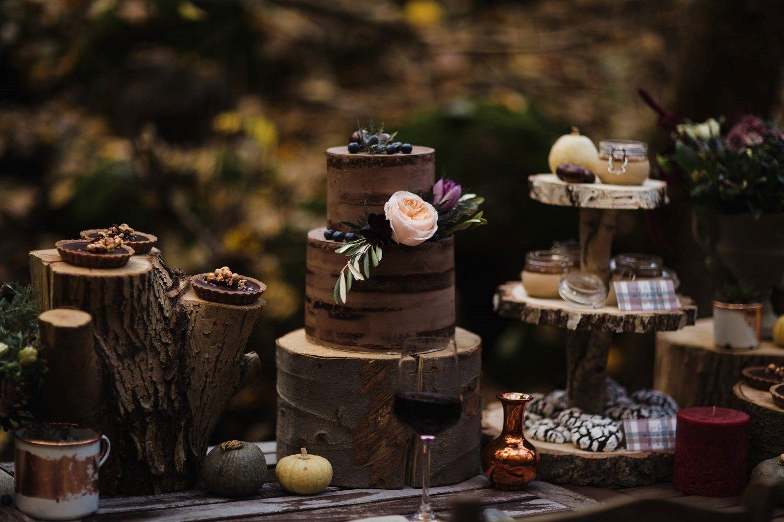 Natural Wedding Decor Desszterasztal Secret Stories