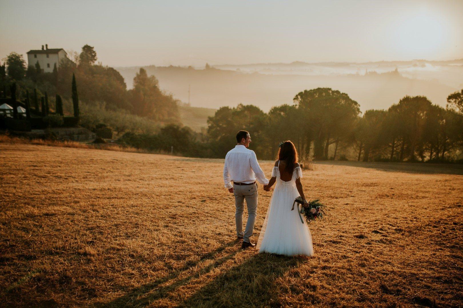 Esküvő Toszkánában