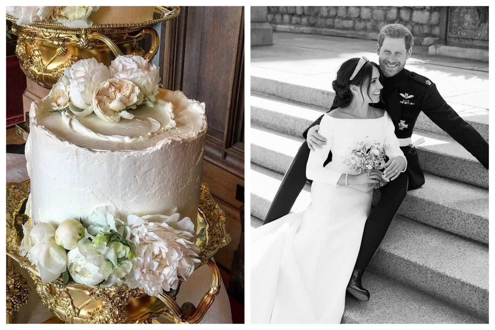 Fókuszban Meghan és Harry esküvői tortája