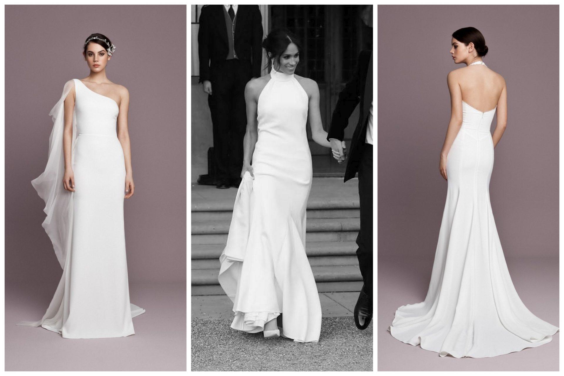 Letisztult esküvői ruhák Meghan Markle stílusában