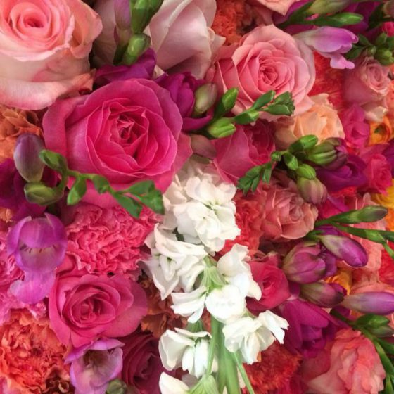 Virágfal esküvőre