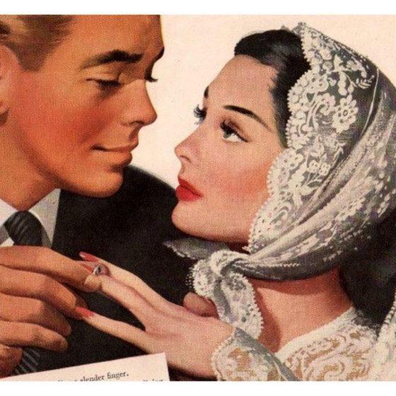 Vintage esküvői reklámok