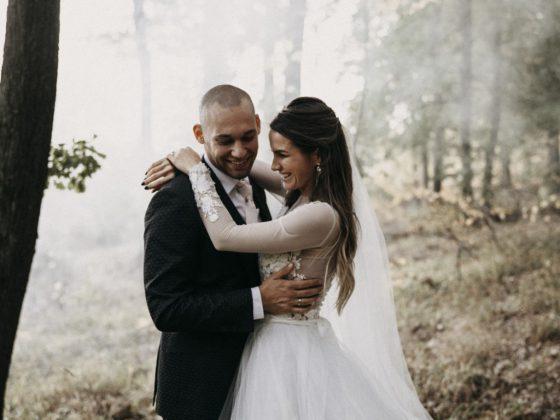 romantikus erdei esküvő