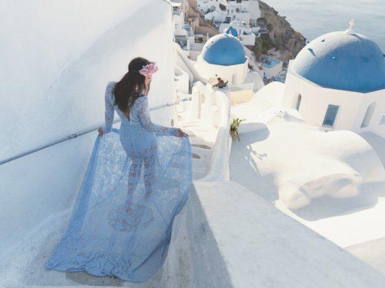Valami kék - Szebbnél szebb Daalarna ruhákban Szantorini mesés tájain