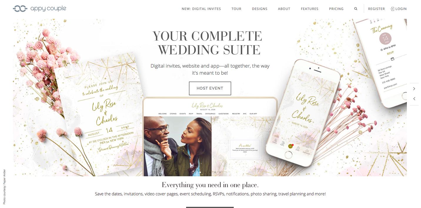 114e65badf Egy honlap akkor lesz igazán stílusos, ha annak hangulata, képi világa az  esküvő tematikájával is összhangban van. Vezesd végig ugyanazt a grafikai  elemet ...