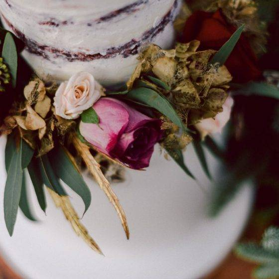 őszi esküvői torták