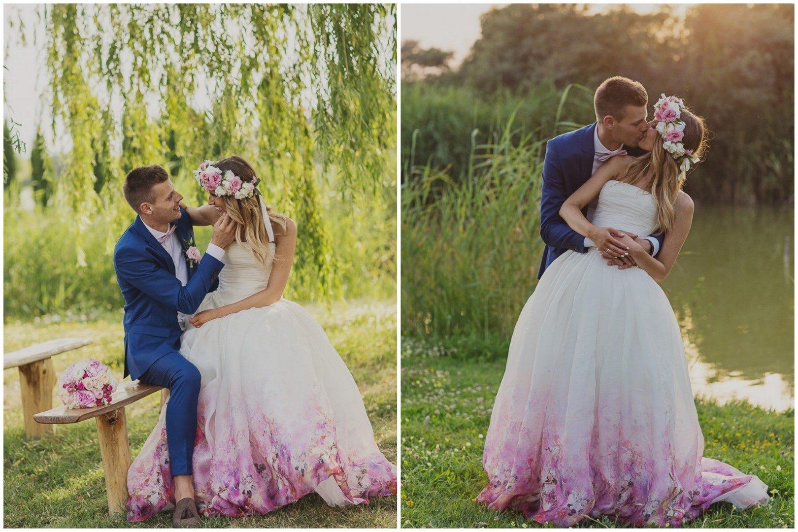 ,kreatív fotózás,kreatív képek,esküvő,valódi esküvő,virágos esküvői ruha,daalarna,daalarna esküvői ruha,virágok,virágkoszorú,tóparti esküvő,