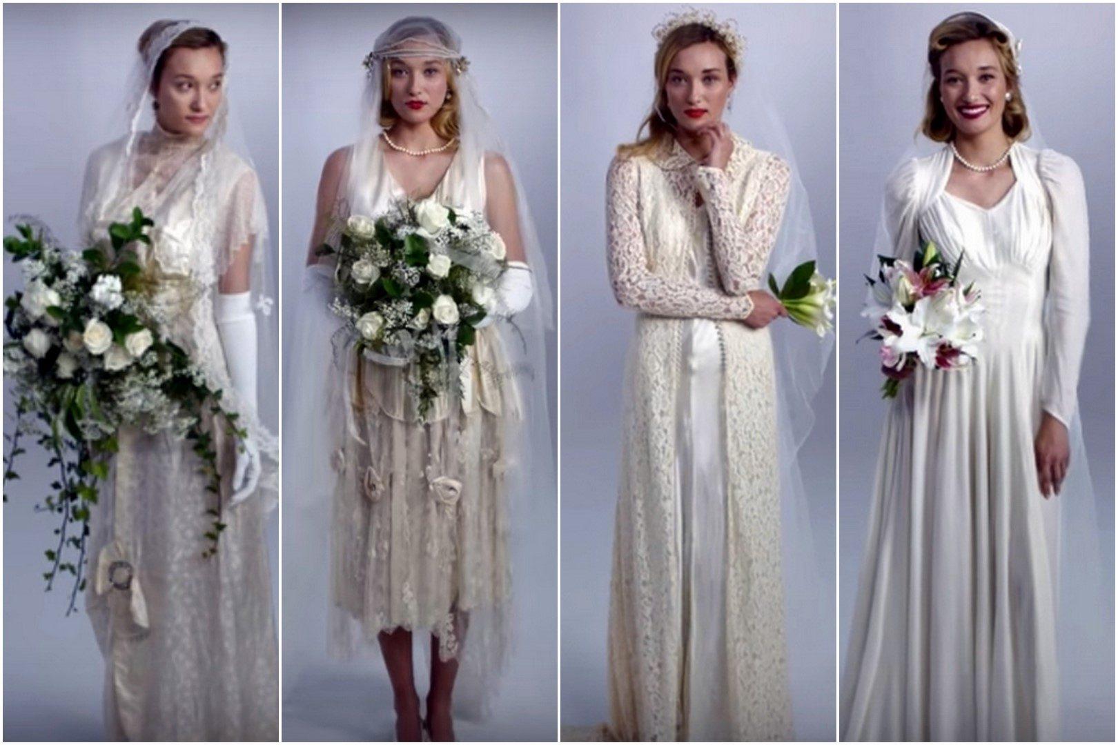 100 év esküvői ruháinak története 3 percben  fdd21c68f7