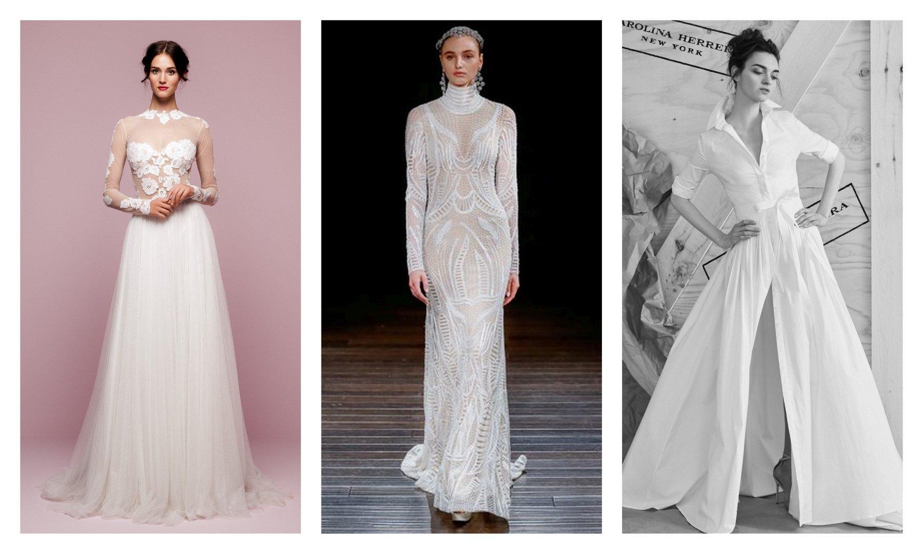 8b306a8684 Ilyen lesz az esküvői ruha 2017-ben – A képeken látható esküvői ruhamárkák  listája balról jobbra haladva: Lela Rose, Vera Wang, Angel Sanchez, Daalarna  ...