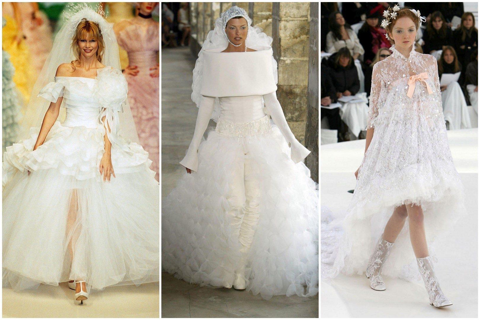 ,chanel,esküvői ruha,haute couture,haute couture esküvői ruha,esküvő,divattervező,lagerfeld,claudia schiffer,