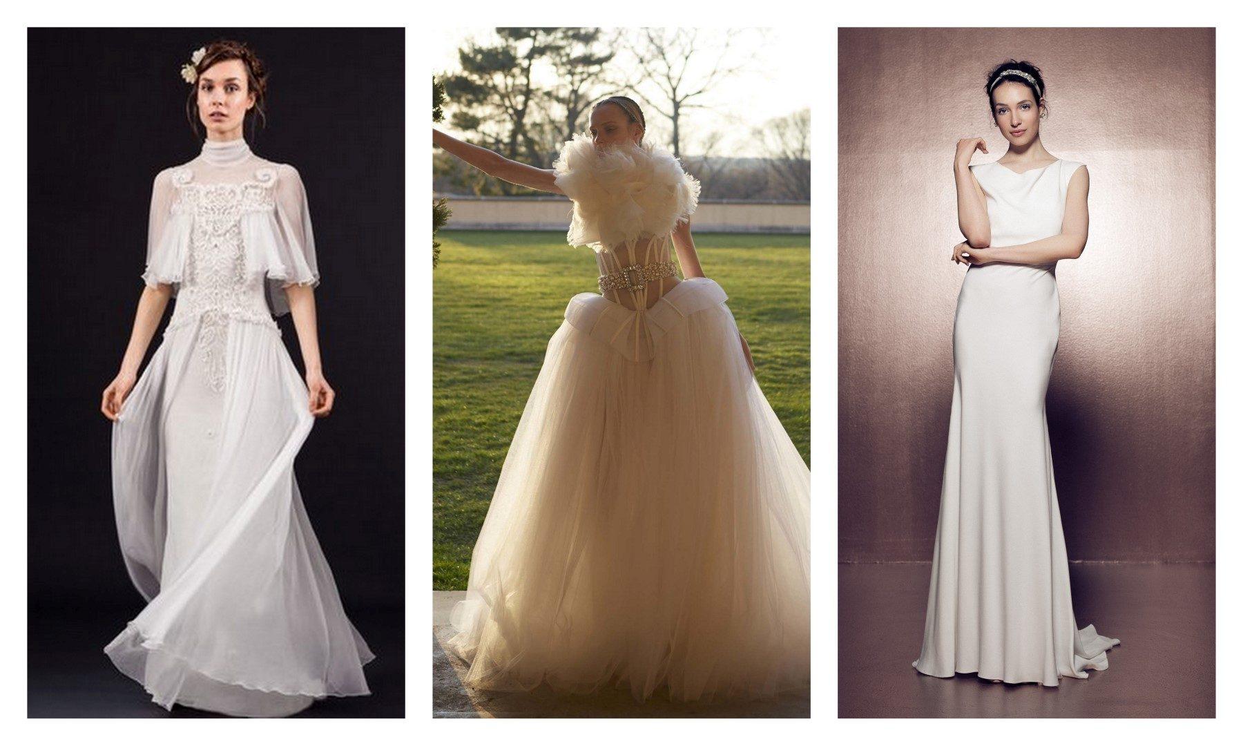 Ilyen lesz az esküvői ruha 2017-ben – A képeken látható esküvői ruhamárkák  listája balról jobbra haladva  Lela Rose 930c2fb717