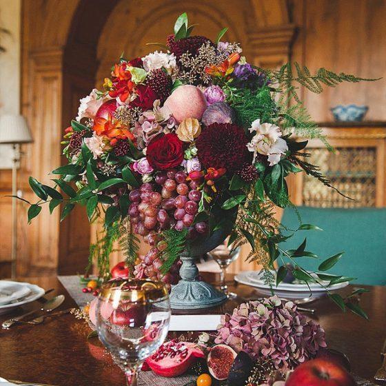 Gyümölcsökből & zöldségekből készült asztaldíszek